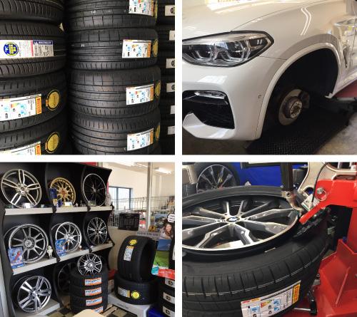 持ち込みタイヤ取付・交換、新車・中古車販売、車検・整備なら岐阜県本巣市のタイヤ プラスパァ